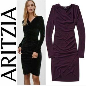 ❤️ Aritzia Wilfred Free Klum Dress Blackberry XXS